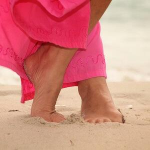 erdende Berührung am Strand von Santanyi