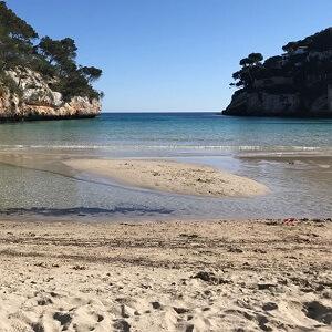 die einzige Sandbank Mallorcas